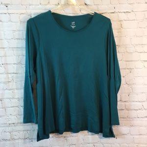 J Jill teal pullover sweater size 2X